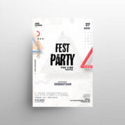 Free White Festival Event Flyer Template (PSD)
