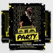 Hip Hop Party Free Flyer Template (PSD)