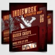 Indie Party Event Free Flyer Template (PSD)
