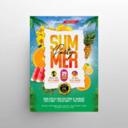 Party on Beach Free Flyer Template (PSD)