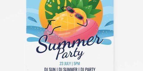 Summer Beach Party Free Flyer Template (PSD)