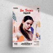 Summer Tropic Party Free Flyer Template (PSD)