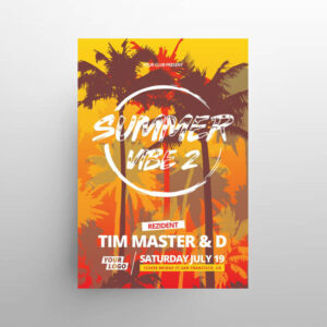 Summer Vibes Party Free Flyer Template (PSD)