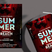 Tropical Night Music Free Flyer Template (PSD)